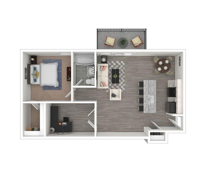 1 Bedroom Deluxe + Flex Work Space